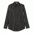 지이크 F 지이크파렌하이트 베이지 라인 스트라이프 블랙 셔츠 AB5456