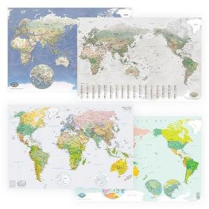 모티프맵 세계지도 2종세트 /특가 1+1 양면코팅