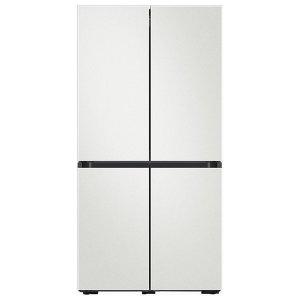 삼성 비스포크 냉장고 4도어 키친핏 604L 코타화이트 RF61T91R201