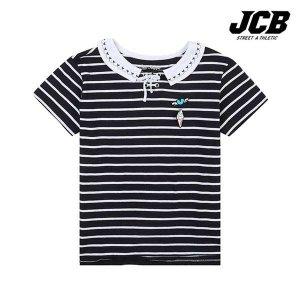 (현대Hmall) 보리보리/JCB 카라 배색 스트라이프 반팔티셔츠