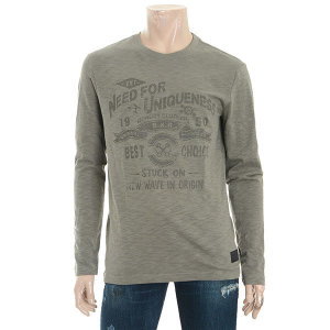 남여공용 20수 슬럽 라운드넥 티셔츠(B183TS065P)