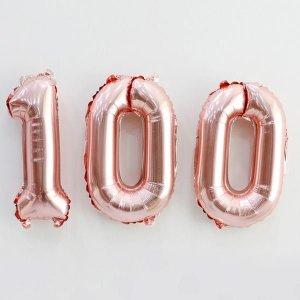 호일풍선세트(100일_로즈골드) / 백일상 숫자풍선 파티풍선