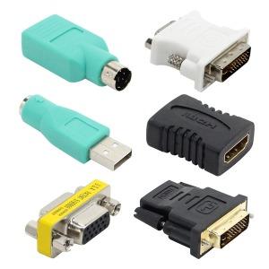 넥시 변환 젠더 USB RGB DVI HDMI BNC OTG 연장 Y젠더