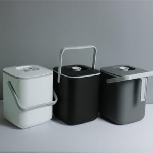 모던 가정용 음식물 쓰레기통 3L 3컬러 택1