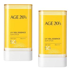Age20s UV베일 에센스 선스틱 2개