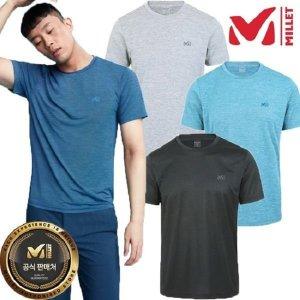 갤러리아   밀레 MILLET (40%) S/S 남성 아이스 라운드 메가쿨 티셔츠