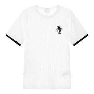 팜 트리 엠브로이더리 티셔츠 JC10240107