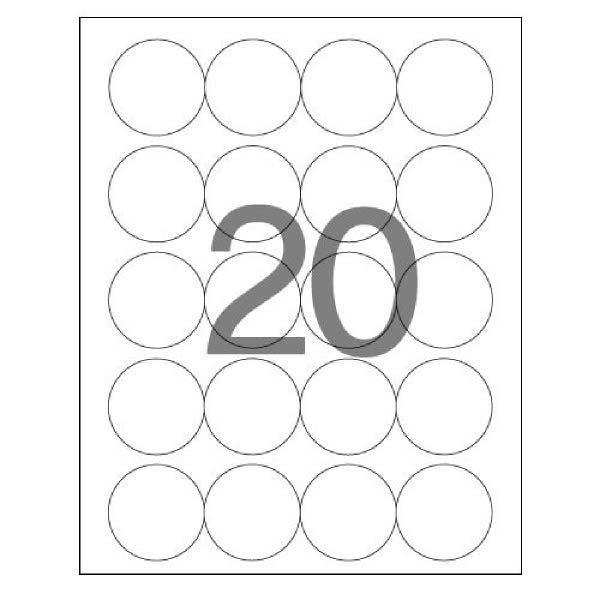(현대Hmall) 108095 분류표기용 라벨(LS-3639/100매/20칸/폼텍)