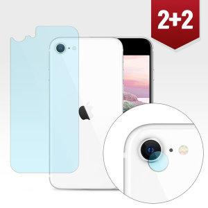 2+2 아이폰SE2 (2020) 카메라+후면 강화 보호필름