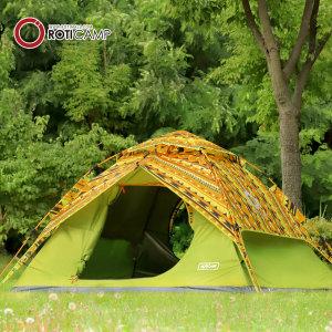 컴포트 프리미엄 패턴 원터치 텐트 4-5인용