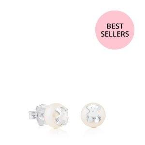 최초출시가 123 000원 Silver TOUS Bear Earrings with Pearl/귀걸이/211140420
