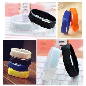 LED 패션 스포츠 젤리 실리콘 팔찌 칼라 손목시계