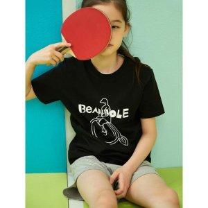 BEANPOLE KIDS  블랙 레터링 그래픽 상하 SET (BI0542U025)