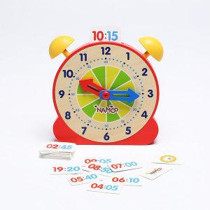 NAMOO원목 시계공부 (레드) /어린이장난감 시계보기