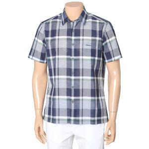 (INDIAN) 빅체크 메쉬 원포켓 반팔 셔츠 MITNSVM3121(54)