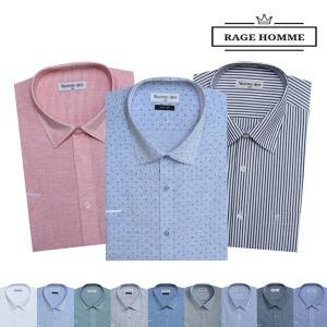 레이지옴므 반팔 와이셔츠/여름옷 드레스셔츠/캐주얼
