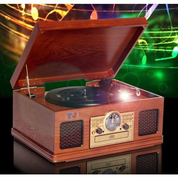엔틱오디오 턴테이블 CD AM/FM LP플레이어 오디오/uy8