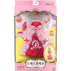 미미드레스콜렉션 핑크 인형드레스 인형옷 미미의상