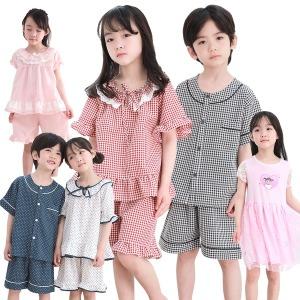 국산 아동 유아 여름 잠옷 실내복 파자마 반팔 아기