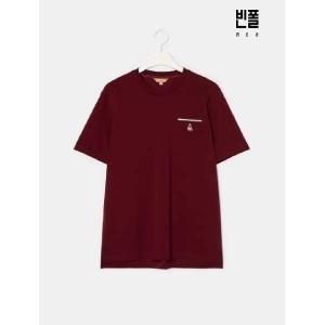 (현대백화점) 빈폴  20SS  B-Cycle  Unisex 와인 아이스코튼 티핑 라운드넥 피케 티셔츠(BC0342C10Z)