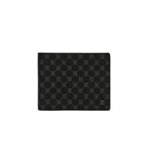 (선물포장)(LOUIS PVC) 블랙 가죽 DD 패턴 반지갑 DBWA0E123BKBK-BE