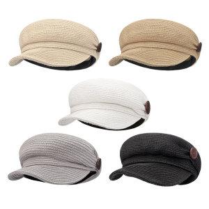 단추 밀짚 뉴스보이캡 여름 헌팅캡 모자