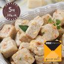모든닭 진한치즈 닭가슴살 큐브 치즈송송 100g 5팩