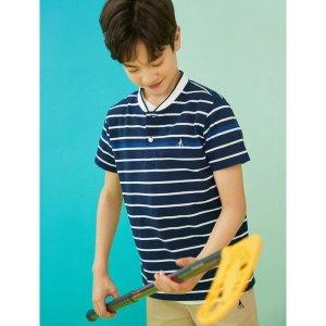 정소가:59 000  BEANPOLE KIDS  네이비 스트라이프 헨리넥 티셔츠 (BI0442U03R)