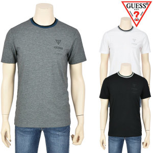 남성 쿨링 넥 배색 반팔 티셔츠(MK2K1400)