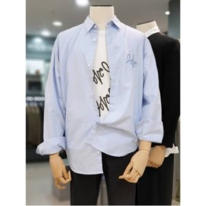 코모도 W몰 코모도스퀘어 오버핏 옥스퍼드 러브자수 셔츠 4COL 9519105701023