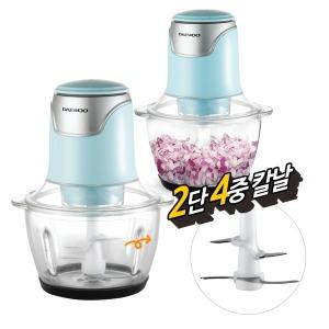 대우 전동 다지기(민트) 마늘 야채 이유식 믹서기