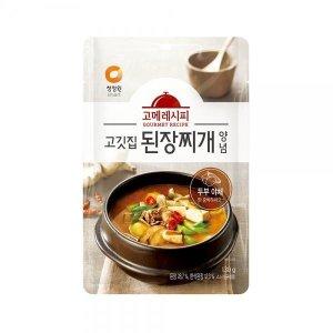 청정원 고메레시피 고깃집된장찌개양념 130g 6봉