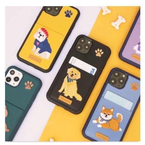 아이폰11 자수포켓바타입-애쉬블루그린블랙옐로우바이올렛