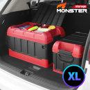 특대용량 몬스터XL 2단 수납 자동차 트렁크정리함 레드