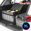 특대용량 몬스터XL 2단 수납 자동차 트렁크정리함 블랙