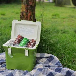 피크닉 휴대용 맥주 캠핑 소형 아이스박스 그린티