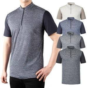 남자 기능성 집업 쿨 반팔 냉감 스판 티셔츠 B 4색상