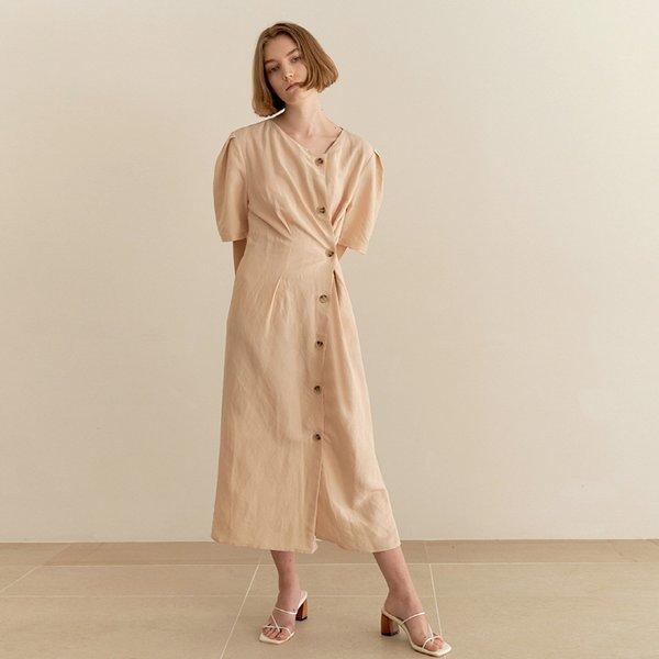 (슬로우 무브)  슬로우무브  Twist Linen Dress - beige