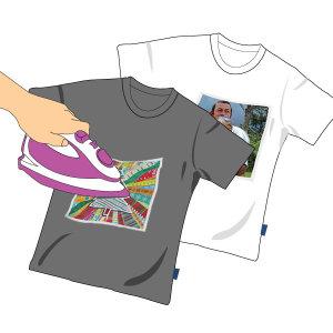 티셔츠전사용지 잉크젯 전사지 어두운색원단용 A4 5매