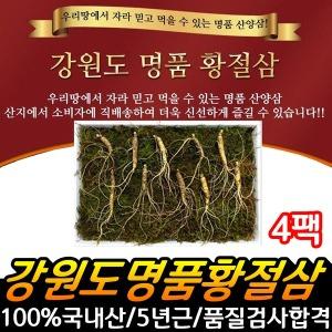 강원도 명품 황절삼 5년근 산양인삼 산삼 4팩-12뿌리