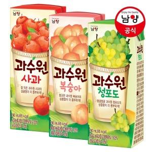 과수원 사과/청포도/복숭아 190ml 48팩 맛선택