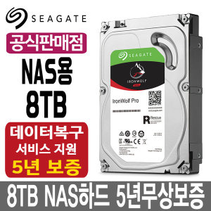 8TB IronWolf Pro ST8000NE001 NAS HDD +우체국특송+