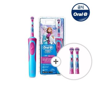 Oral_B 오랄비 어린이 전동칫솔 D12k(충전식) + 칫솔모 2입