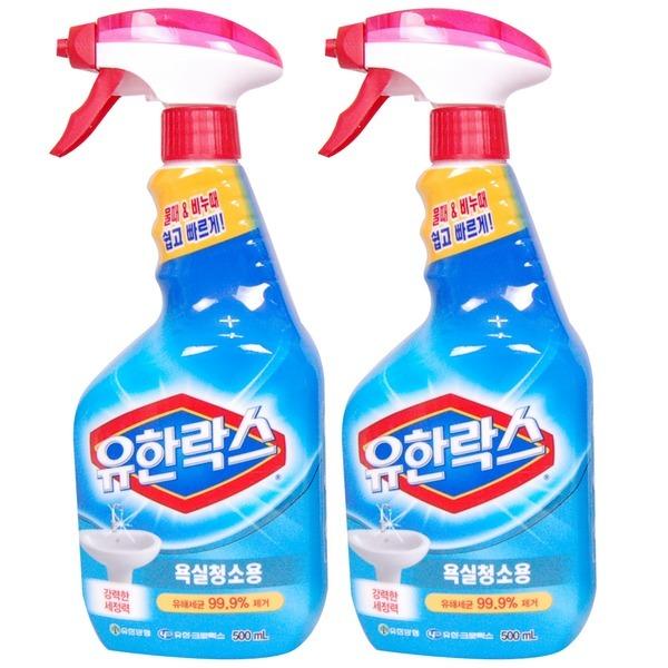 유한락스  욕실 청소용 세정제 500+500ml