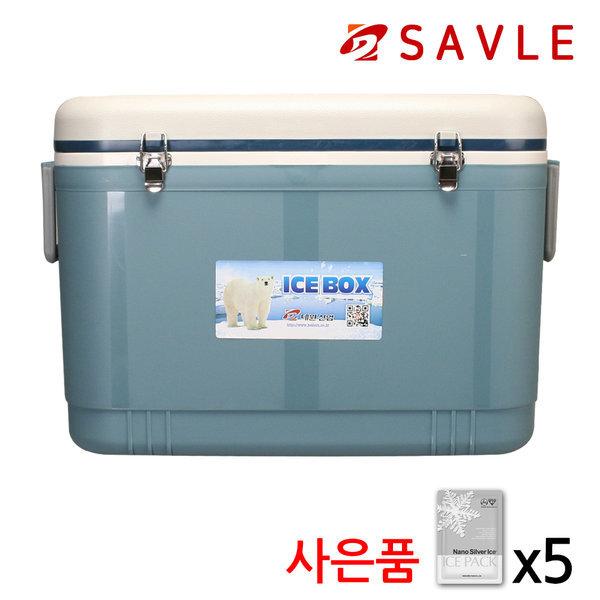 레져 낚시 아이스박스 캠핑 쿨러백 파트너 56L 청녹색