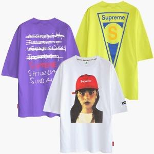 M~5XL 반팔티 티셔츠 빅사이즈 남자 남성 여성 단체티