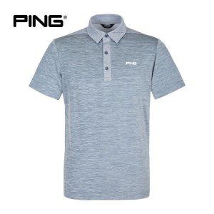 핑  PING  여름 남성 뒷판 컬러배색 반팔 티셔츠 11202TO915_BL