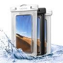 1+1 IPX-8등급 에어 스마트폰 방수팩 P2 화이트+투명