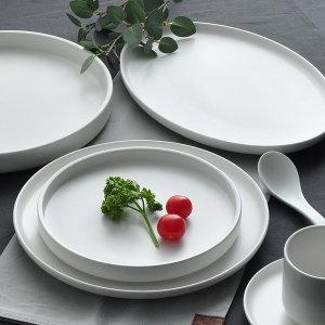 엔젤 무광 카페 케이크 브런치 디저트 접시 그릇