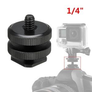 연결 LED 1/4 핫슈 아답터 마운트 카메라 브라켓